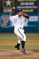 June 25, 2008:  The Everett AquaSox's Eddy Fernandez pitches against the Boise Hawks at Everett Memorial Stadium in Everett, Washington.