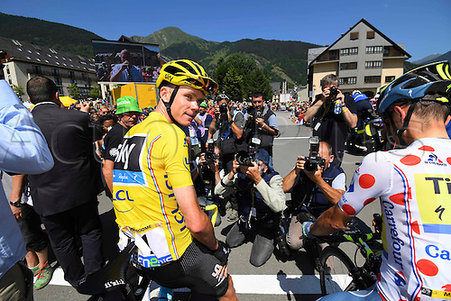 10.07.2016. Vielha Val d'Aran to Andorre Arcalis, France. Tour de France stage 9.  FROOME Christopher of Team Sky at the start of stage 9
