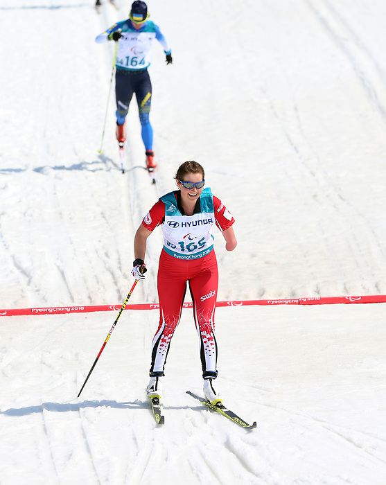 Pyeongchang, Korea, 14/3/2018-Brittany Hudak competes in the cross country sprints during the 2018 Paralympic Games in PyeongChang. Photo Scott Grant/Canadian Paralympic Committee.