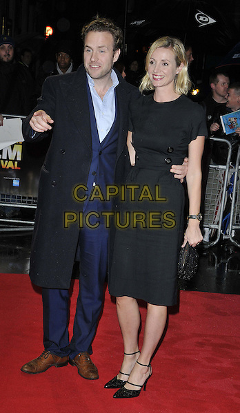 LONDON, ENGLAND - OCTOBER 13: Rafe Spall &amp; Elize du Toit attend the &quot;X + Y&quot; official screening, 58th LFF day 6, Odeon West End cinema, Leicester Square, on Monday October 13, 2014 in London, England, UK. <br /> CAP/CAN<br /> &copy;Can Nguyen/Capital Pictures