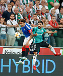 22.08.2019 Legia Warsaw v Rangers: James Tavernier and Luquinhas