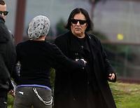 Renato Zero  partecipa ai funerali  di  Pino Daniele al santuario del divino amore di Roma