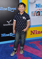 """01 August 2016 - Hollywood, California. Albert Tsai. World premiere of """"Nine Lives"""" held at the TCL Chinese Theatre. Photo Credit: Birdie Thompson/AdMedia"""