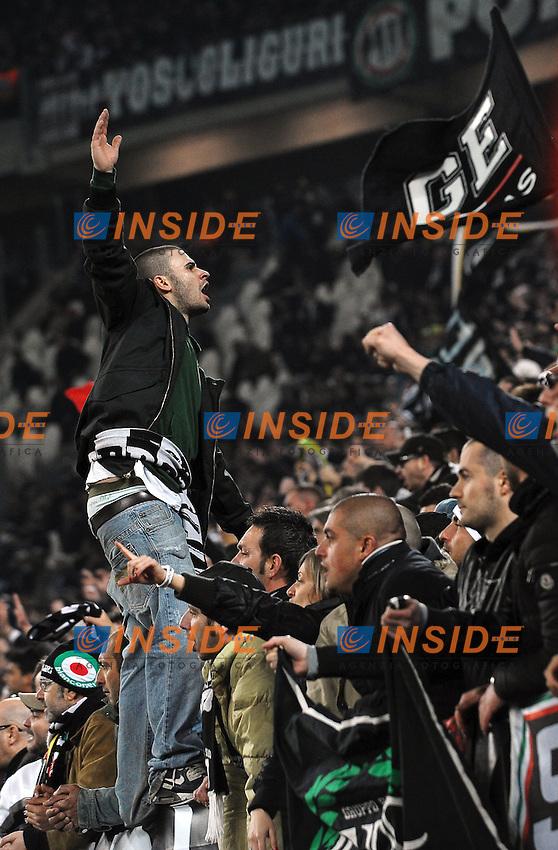 """Tifosi Juventus.Juventus fans.Torino 11/4/2012 Stadio """"Juventus Stadium"""".Football Calcio 2011/2012 Campionato Italiano Serie A.Juventus Vs Lazio.Foto Insidefoto Andrea Staccioli"""