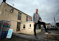 FAO STEWART HUNTER, DAILY MAIL SPORTS PICTURE DESK<br />Pictured: Shane Williams outside Amman United RFC clubhouse in Cwmamman, Wales, UK. Thursday 13 April 2017<br />Re: Former Wales international rugby player Shane Williams is to make another comeback as part of the Amman United team that contests a final at the Principality Stadium in Cardiff on Saturday.<br />40 year old Williams, Wales' record try scorer has been named in his local village side that will take on Caerphilly in the National Bowl final, having recovered from a fractured jaw in the semi-final win against Cardigan after almost five years since Williams last played for the Barbarians against Wales.<br />He retired from the Test scene after a defeat to Australia in 2011, immediately after Wales had reached the semi-final of the World Cup of that year.