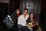 "Jane Elissa - Joe Barbara - Jacklyn Zeman = Another World and AMC Joe Barbara stars in The Bronx Tale, The Musical  at the Longacre Theatre, New York City, New York. On January 19, 2017 General Hospital's Jacklyn Zeman ""Bobbie Spencer"" along with designer Jane Elissa came to see the musical and went backstage to see Joe Barbara and cast. Photos were taken on the stage. (Photo by Sue Coflin/Max Photos)"