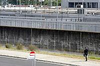 Roma 29 Maggio 2010.Ponte Galeria.CIE di Ponte Galeria centri di identificazione e espulsione per immigrati.Rome 29 may 2010.Ponte Galeria. CIE identification and deportation centers for immigrants