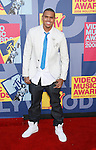 LOS ANGELES, CA. - September 07: Singer Chris Brown arrives at the 2008 MTV Video Music Awards at Paramount Pictures Studios on September 7, 2008 in Los Angeles, California.