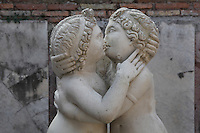 Detail of Cupid and Psyche in room E, Domus di Amore e Psiche (House of Cupid and Psyche), 2nd century AD, Ostia Antica Picture by Manuel Cohen