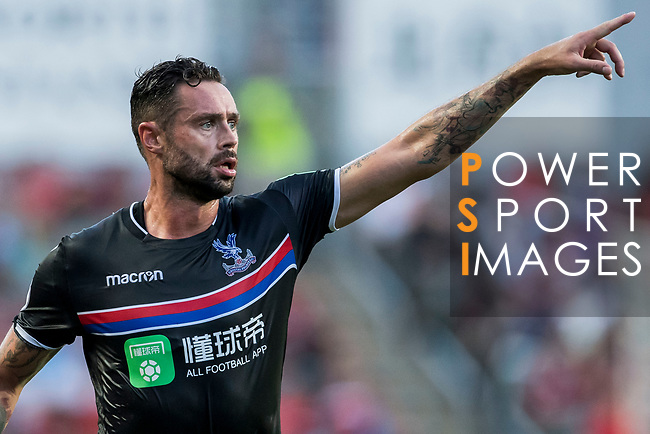 Crystal Palace defender Damien Delaney reacts during the Premier League Asia Trophy match between West Bromwich Albion and Crystal Palace at Hong Kong Stadium on 22 July 2017, in Hong Kong, China. Photo by Weixiang Lim / Power Sport Images