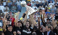 D.C. United celebrates after defeating the Kansas City Wizards 3-2 at the MLS Cup, at the Home Depot Center, in Carson, Calif., Sunday, Oct. 14, 2004.