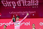Race leader Valerio Conti (ITA) UAE Team Emirates retains the Maglia Rosa at the end of Stage 10 of the 2019 Giro d'Italia, running 145km from Ravenna to Modena, Italy. 21st May 2019<br /> Picture: Gian Mattia D'Alberto/LaPresse | Cyclefile<br /> <br /> All photos usage must carry mandatory copyright credit (© Cyclefile | Gian Mattia D'Alberto/LaPresse)