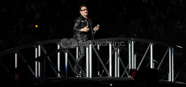 MIAMI GARDENS, FL - JUNE 29:  Bono of U2 performs at Sun Life Stadium on June 29, 2011 in Miami Gardens, Florida. © mpi04 / MediaPunch Inc.