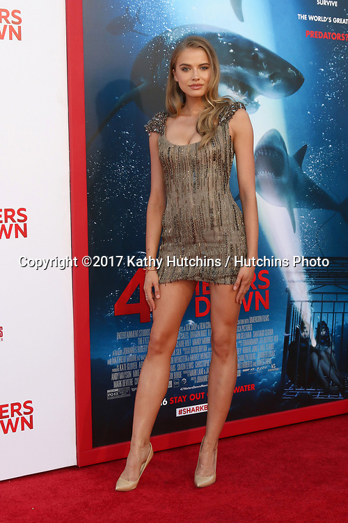 "LOS ANGELES - JUN 12:  Tanya Mityushina at the ""47 Meters Down"" Premiere at the Village Theater on June 12, 2017 in Westwood, CA"