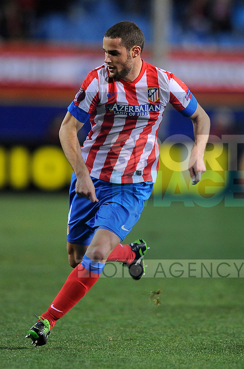 Mario Suarez of Atletico Madrid - UEFA Europa League Round of 32 - Atletico Madrid vs Rubin Kazam - Vincente Calderon Stadium - Madrid - 14/02/13 - Picture Simon Bellis/Sportimage