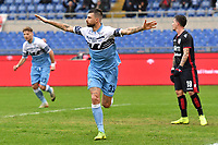 Francesco Acerbi of Lazio celebrates after scoring a goal <br /> during the Serie A 2018/2019 football match between SS Lazio and Cagliari at stadio Olimpico, Roma, December 22, 2018 <br />  Foto Andrea Staccioli / Insidefoto