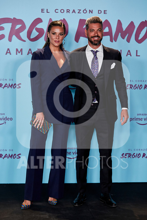 "Rene Ramos and Vania Millan attends to ""El Corazon De Sergio Ramos"" premiere at Reina Sofia Museum in Madrid, Spain. September 10, 2019. (ALTERPHOTOS/A. Perez Meca)"