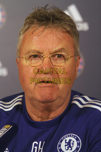 Guus Hiddink attends Chelsea's press conference on February 2nd, 2016 ahead of their Premiereship match at Watford on Wednesday.<br /> CAP/DS<br /> &copy;DS/Capital Pictures