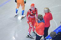 SCHAATSEN: HEERENVEEN: Thialf, 26-06-2012, Zomerijs, Team LIGA, Thijsje Oenema, trainster Marianne Timmer, assistent-trainster Desly Hill, ©foto Martin de Jong