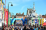 The start of Stage 1 of the Asda Womens Tour de Yorkshire 2018 running from Beverley to Doncaster, England. 3rd May 2018.<br /> Picture: ASO/Alex Broadway | Cyclefile<br /> <br /> <br /> All photos usage must carry mandatory copyright credit (&copy; Cyclefile | ASO/Alex Broadway)