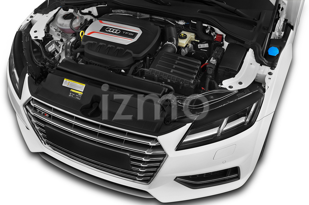 Car Stock 2016 Audi TTS - 2 Door coupe Engine  high angle detail view