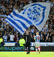 Huddersfield Town manager David Wagner applauds the crowd after the game<br /> <br /> Photographer Chris Vaughan/CameraSport<br /> <br /> The EFL Sky Bet Championship Play-Off Semi Final First Leg - Huddersfield Town v Sheffield Wednesday - Saturday 13th May 2017 - The John Smith's Stadium - Huddersfield<br /> <br /> World Copyright &copy; 2017 CameraSport. All rights reserved. 43 Linden Ave. Countesthorpe. Leicester. England. LE8 5PG - Tel: +44 (0) 116 277 4147 - admin@camerasport.com - www.camerasport.com