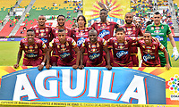 IBAGUÉ- COLOMBIA ,29-04-2018:Formación  de Deportes Tolima  contra el Independientre Santa Fe    durante partido por la fecha 18 de la Liga Águila I 2018 jugado en el estadio Manuel Murillo Toro de la ciudad de Ibagué. / Team of Deportes Tolima  during match agaisnt Independiente Santa Fe  for the date 18 of the Aguila League I 2018 at Manuel Murillo Toro  stadium in Ibague city. Photo: VizzorImage  /Juan Carlos Escobar / Contribuidor