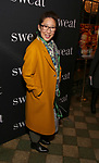"Sandra Oh attends the Broadway Production of  ""Sweat"" at studio 54 Theatre on March 26, 2017 in New York City"