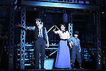 Ben Fankhauser and Kara Lindsay at Curtain Call - The Newsies at The Paper Mill Playhouse on October 2, 2010 in Millburn, New Jersey with current cast members and cast members of the film. It was a day of events to all devoted fans of Newsies - Radio Disney at 4 pm, executive reception for members of the original cast of Newsies (the movie) followed by a talkback, Q&A in the theater - all this followed by the evening performance of Newsies with the Curtain Call, old cast meets new cast and a cast photo of all. (Photo by Sue Coflin/Max Photos)
