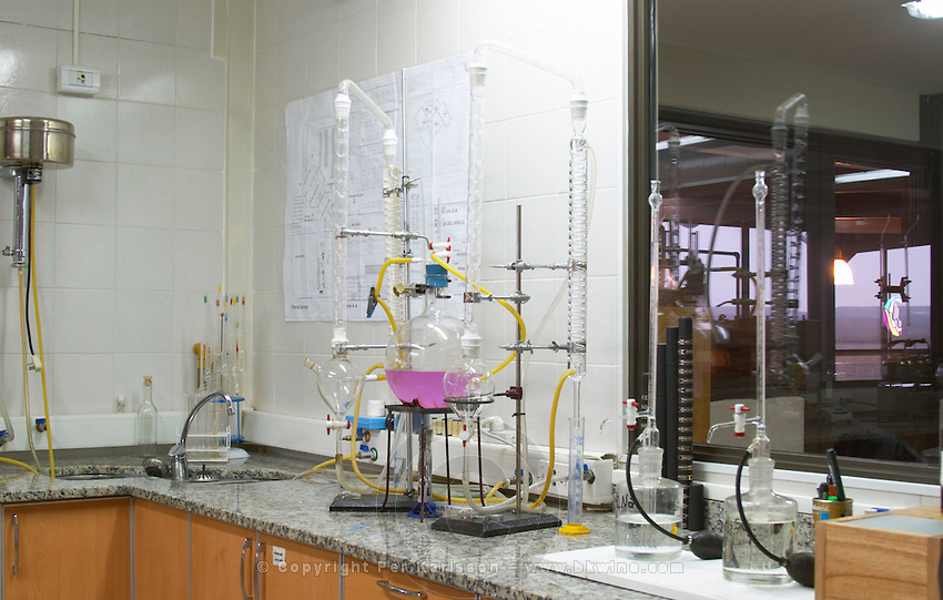 the winery laboratory with analysis equipment Bodega Del Anelo Winery, also called Finca Roja, Anelo Region, Neuquen, Patagonia, Argentina, South America