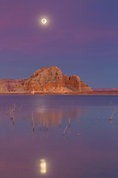 Lake Powell blue super moon of 1/30/18. Once on a Blue Moon this event happen.  Even rarer than that was the blue super moon eclipse the following morning.