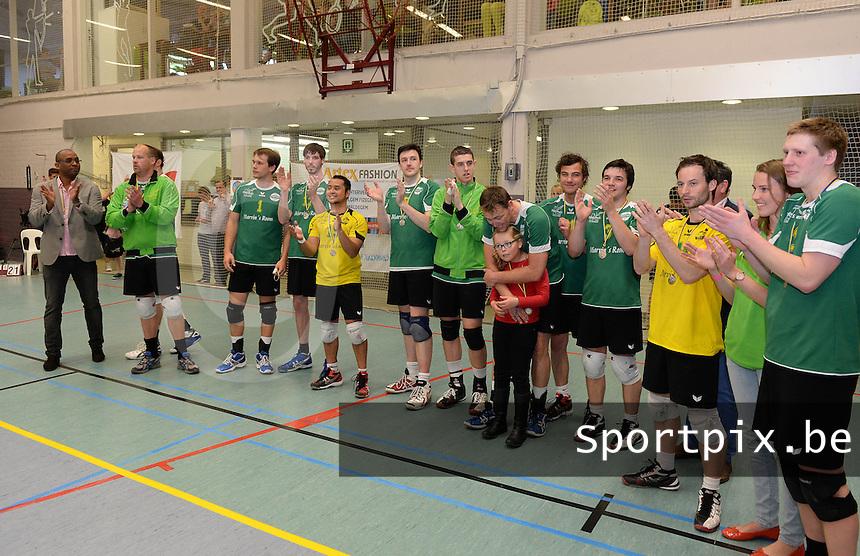 Bekerfinale Nationaal Divisie Heren : Hermes Oostende - VC Optima Lendelede : Hermes Oostende<br /> foto VDB / BART VANDENBROUCKE