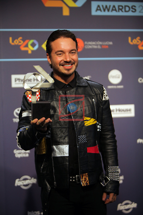Los 40 MUSIC Awards 2016 - Photocall.<br /> J. Balvin.