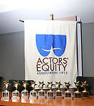 the ACCA Awards during the ceremony as The chorus of Broadway's Once on This Island receives the twelfth annual Advisory Committee on Chorus Affairs (ACCA) Award for Outstanding Broadway Chorus from Actors' Equity at the Actors' Equity Offices on June 19, 2018 in New York City.