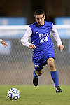06 November 2012: Duke's Rob Dolot. The University of North Carolina Tar Heels defeated the Duke University Blue Devils 1-0 at Fetzer Field in Chapel Hill, North Carolina in a 2012 NCAA Division I Men's Soccer game. The game was an Atlantic Coast Conference quarterfinal match.