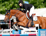 USA's jockey Caitlin Ziegler with the horse Touch Down during 102 International Show Jumping Horse Riding, Gran Prix of Madrid-Volvo Throphy.May, 19, 2012. (ALTERPHOTOS/Acero)