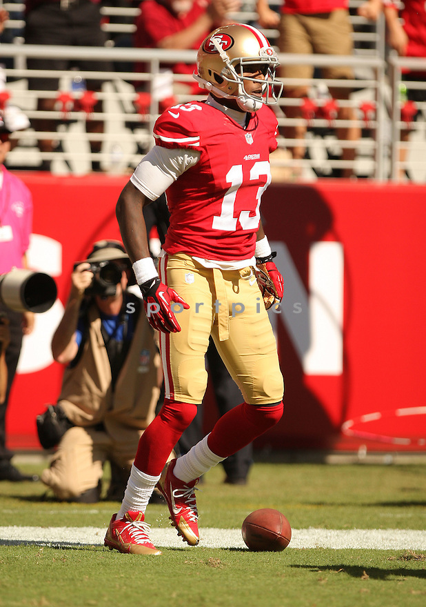 San Francisco 49ers Stevie Johnson (13) during a game against the Kansas City Chiefs on October 5, 2014 at Levi's Stadium in Santa Clara, CA. the 49ers beat the Chiefs 22-17.