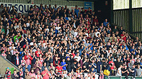 Lincoln City fans fans watch their team in action <br /> <br /> Photographer Chris Vaughan/CameraSport<br /> <br /> The EFL Sky Bet League Two - Lincoln City v Morecambe - Saturday August 12th 2017 - Sincil Bank - Lincoln<br /> <br /> World Copyright &copy; 2017 CameraSport. All rights reserved. 43 Linden Ave. Countesthorpe. Leicester. England. LE8 5PG - Tel: +44 (0) 116 277 4147 - admin@camerasport.com - www.camerasport.com