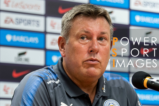 Leicester City FC manager Craig Shakespeare speaks at the press conference after the Premier League Asia Trophy final match between Liverpool FC and Leicester City FC at Hong Kong Stadium on 22 July 2017, in Hong Kong, China. Photo by Yu Chun Christopher Wong / Power Sport Images