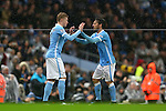 Kevin De Bruyne of Manchester City substitutes on for David Silva - Manchester City vs Swansea - Barclays Premier League - Etihad Stadium - Manchester - 12/12/2015 Pic Philip Oldham/SportImage<br /> --------------------<br /> Sport Image<br /> 15/16 Man City v Swansea City<br /> <br /> 12 December 2015<br /> &copy;2015 Sport Image all rights reserved
