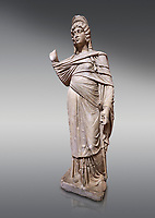 Roman statue of Julia Domina . Marble. Perge. 2nd century AD. Inv no 3268. Antalya Archaeology Museum; Turkey.<br /> <br /> Julia Domna (AD 160–217) was a Roman empress , the second wife of Septimius Severus (reigned 193–211).