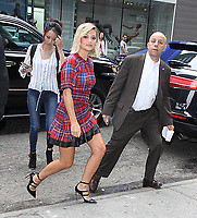 NEW YORK, NY June 07: Olivia Holt at Good Morning America promoting Marvel's Cloak &amp; Dagger on June 07, 2018 in New York City. <br /> CAP/MPI/RW<br /> &copy;RW/MPI/Capital Pictures