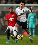 Tottenham Hotspur's Dele Alli (R) battles for the ball with Manchester United's Fred during the Premier League match at Old Trafford, Manchester. Picture date: 4th December 2019. Picture credit should read: Darren Staples/Sportimage