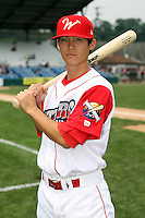 July 4th 2008:  Infielder Troy Hanzawa (5) of the Williamsport Crosscutters, Class-A affiliate of the Philadelphia Phillies, during a game at Bowman Field in Williamsport, PA.  Photo by:  Mike Janes/Four Seam Images