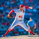 30 July 2017: Washington Nationals pitcher Oliver Perez on the mound in the 9th inning against the Colorado Rockies at Nationals Park in Washington, DC. The Rockies defeated the Nationals 10-6 in the second game of their 3-game weekend series. Mandatory Credit: Ed Wolfstein Photo *** RAW (NEF) Image File Available ***