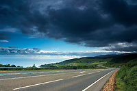 The North Coast 500 near the village of Helmsdale, Sutherland