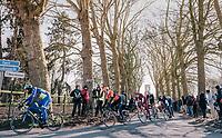 the breakaway group<br /> <br /> Omloop Het Nieuwsblad 2018<br /> Gent &rsaquo; Meerbeke: 196km (BELGIUM)