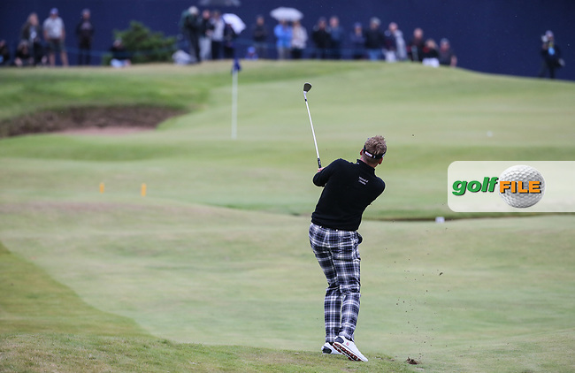 Ian Poulter (ENG) plays to the last during Round Two of the Aberdeen Asset Management Scottish Open 2017, played at Dundonald Links, Troon, Ayrshire, Scotland.  14/07/2017. Picture: David Lloyd | Golffile.<br /> <br /> Images must display mandatory copyright credit - (Copyright: David Lloyd | Golffile).