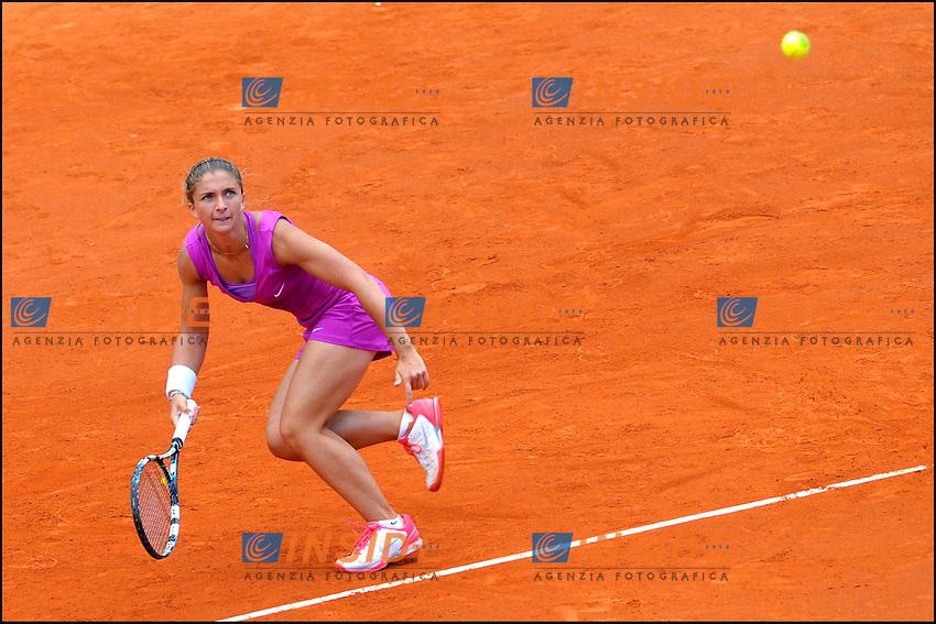 Esultanza de Sara Errani (ita).07/06/2012 Parigi.Torneo internazionale di Tennis Roland Garros.foto Insidefoto /JB Autissier / Panoramic..ITALY ONLY
