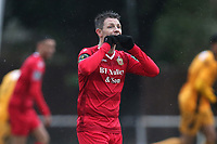 Jamie Cureton of Hornchurch reacts after hitting the post with a long range effort during Hornchurch vs Merstham, BetVictor League Premier Division Football at Hornchurch Stadium on 15th February 2020